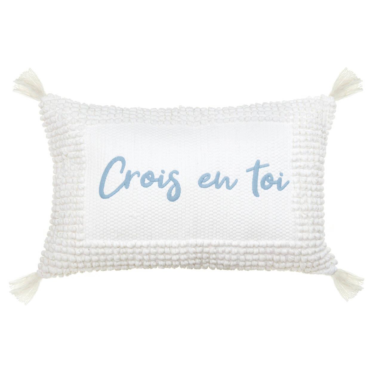 """Coussin lombaire décoratif Jenessa Crois en toi 13"""" x 20"""""""