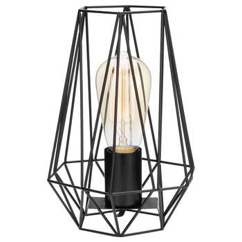 Geometric Wire Metal Table Lamp