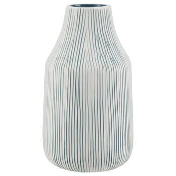 Striped Ceramic Table Vase