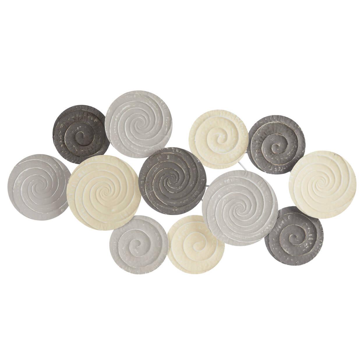 Metal circles wall art