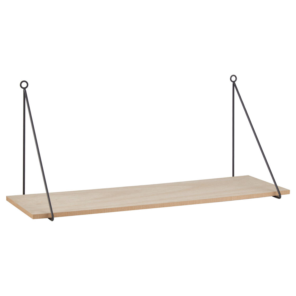 Natural Wood Rectangular Shelf