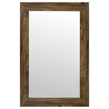 Wood-Like Frame Mirror