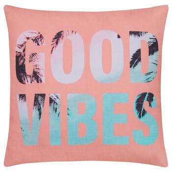 """Coussin décoratif Good Vibes 20"""" x 20"""""""