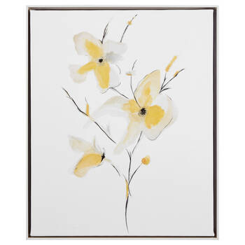 Gel-Embellished Morning Glory Printed Canvas