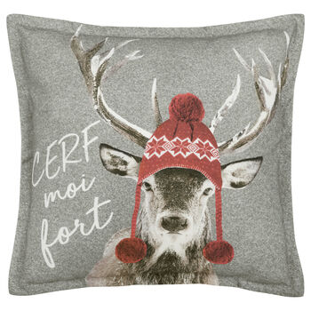 "Cerf-Moi Decorative Pillow 20"" X 20"""