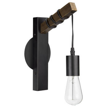 Metal and Wood Sconce