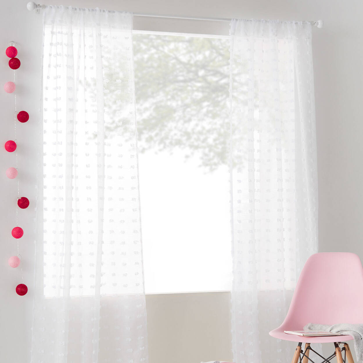 Pompom Sheer Curtain