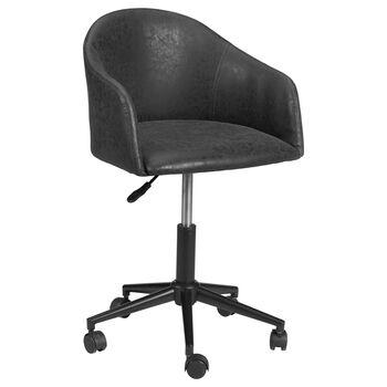 Chaise de bureau ajustable en similicuir texturé et en métal