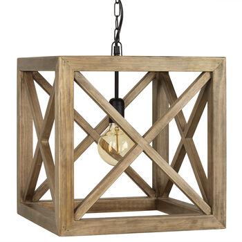 wood ceiling lighting. Wooden Cube Pendant Ceiling Lamp Wood Lighting