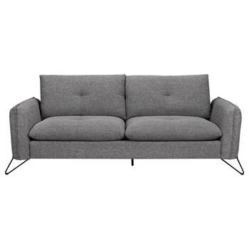 Canapé en tissu avec pattes en métal noires