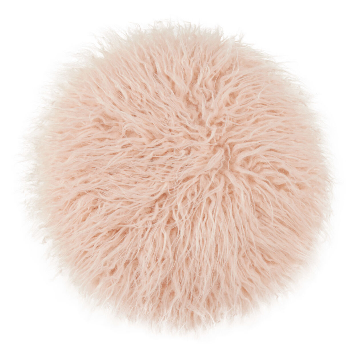 Naadam Round Faux Fur Decorative Pillow 15""