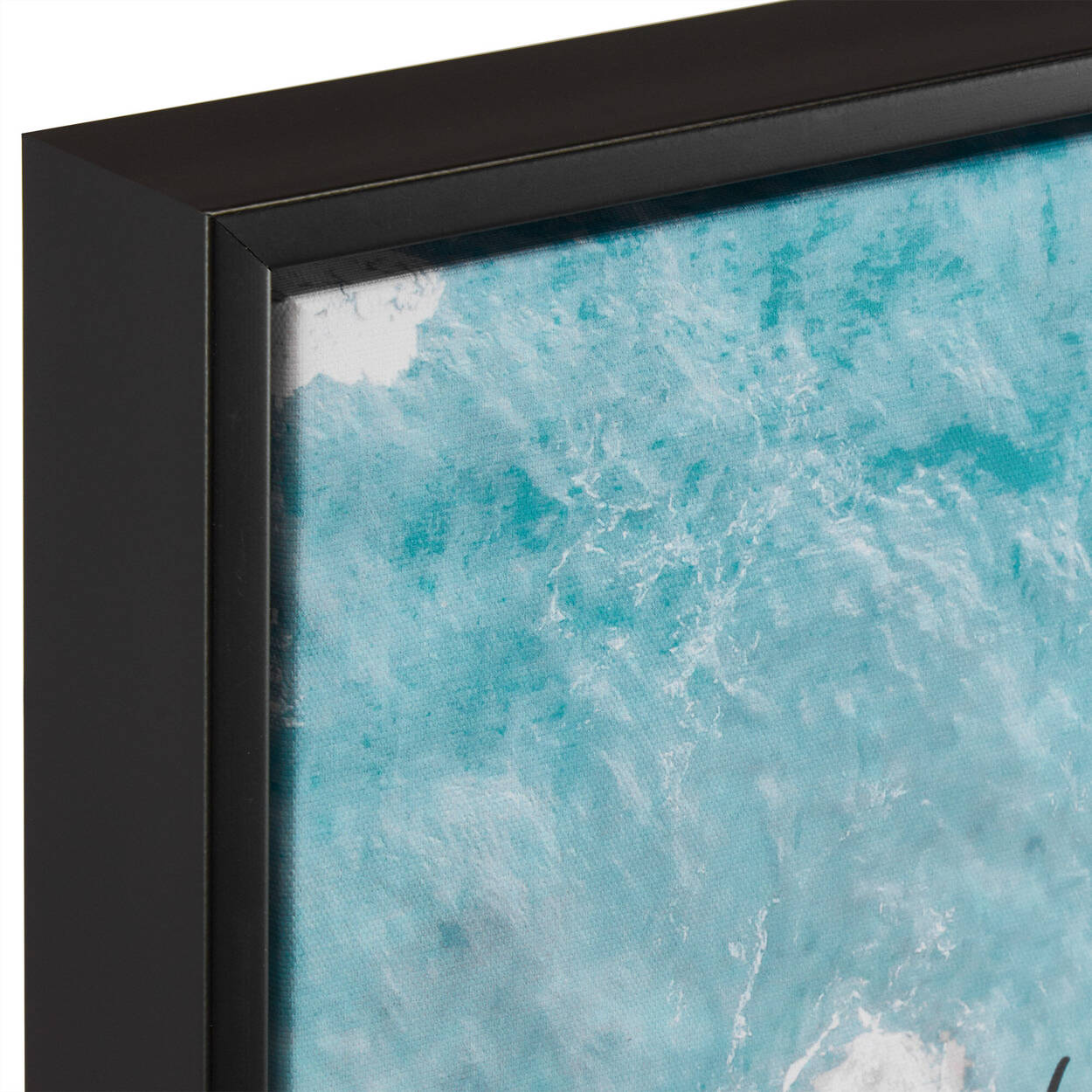 Ocean and French Typography Printed Framed Art