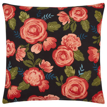 "Floral Decorative Pillow Cover 18"" x 18"""