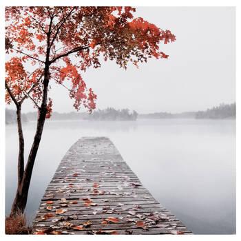 Autumn Pier Printed Canvas