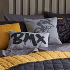 """Coussin lombaire décoratif graffiti BMX 13"""" x 20"""""""