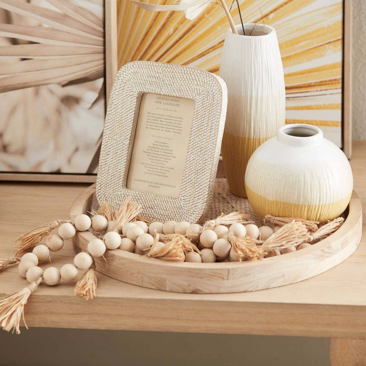 Vase de table en céramique à trois tons
