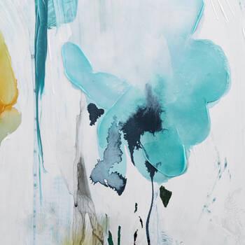 Gel Embellished Floral Canvas