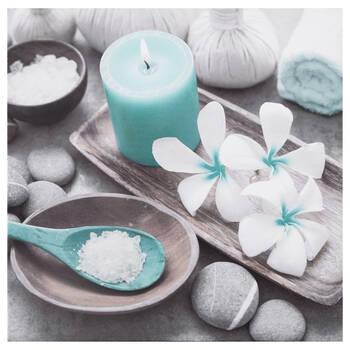Tableau imprimé sel et orchidées