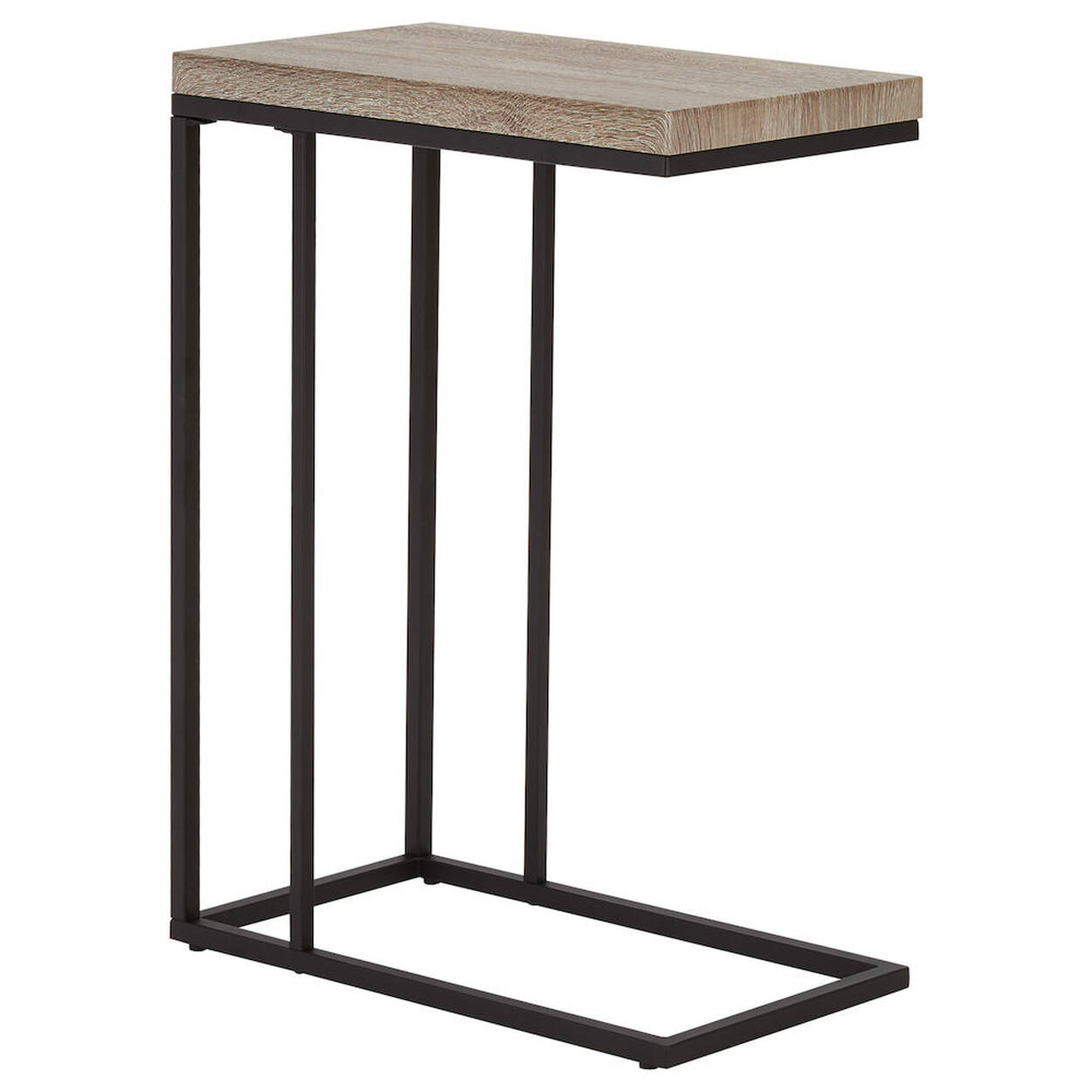 Veneer Metal Side Table