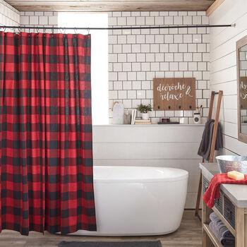 Rideau de douche à carreaux Buffalo
