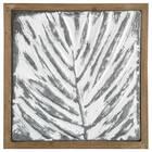 Leaf Embossed Metal and Wood Wall Art