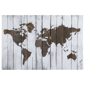 Rustic Map Printed Canvas