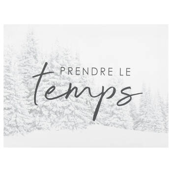 Le Temps Printed Canvas