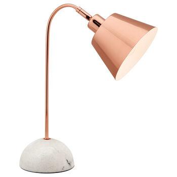 Lampe de table en marbre et en cuivre