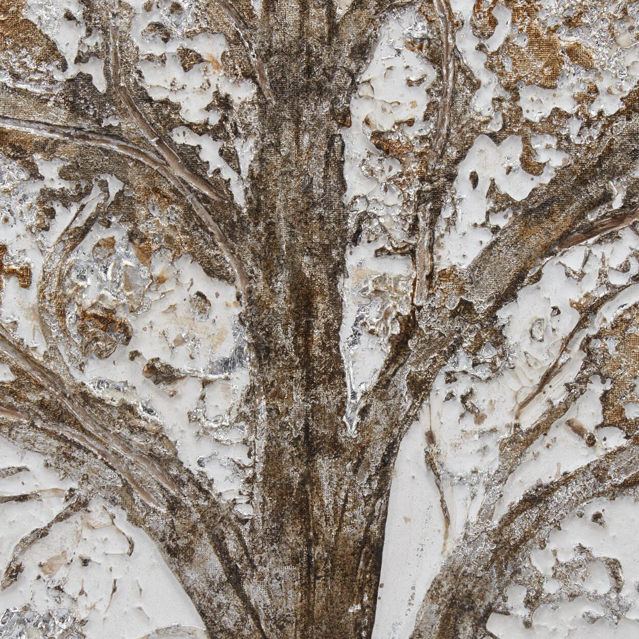 Tableau forêt peint à l'huile