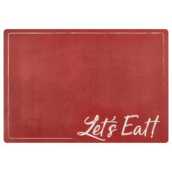 Set of 4 Let's Eat PVC Placemats