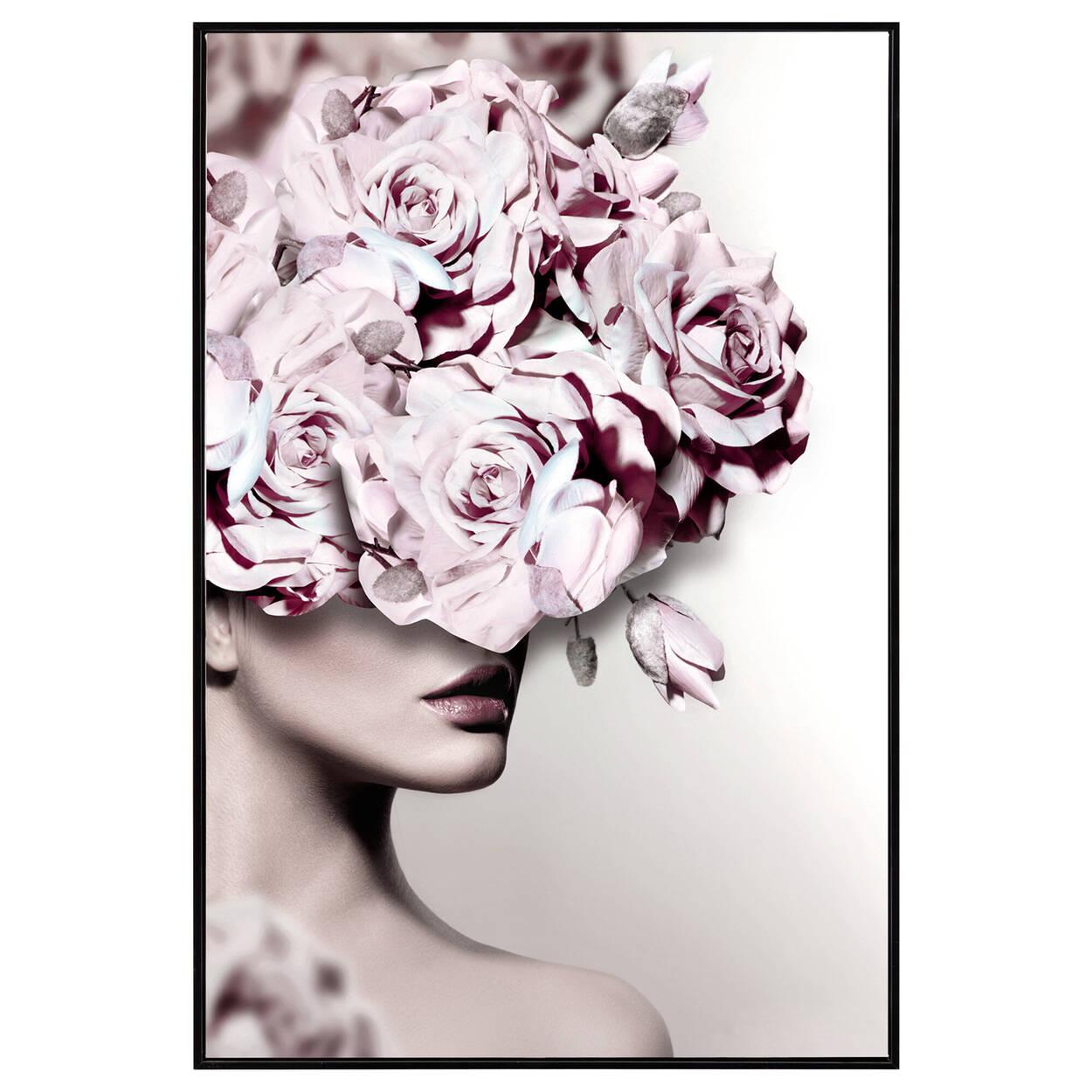 Cadre imprimé beauté florale
