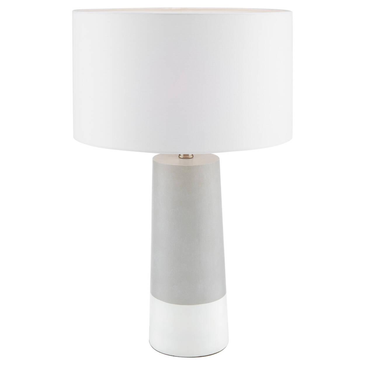 Lampe de table grise et blanche