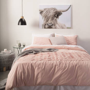 Felice Collection - 3-Piece Pleated Duvet Cover Set