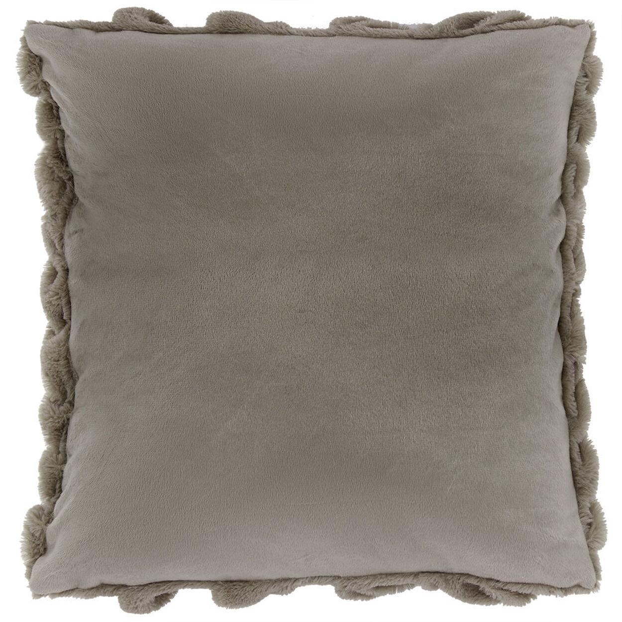 "Foxy Faux Fur Decorative Pillow 18"" X 18"""