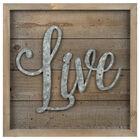 Live Wood and Metal Wall Art
