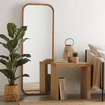 Table d'appoint en bois naturel
