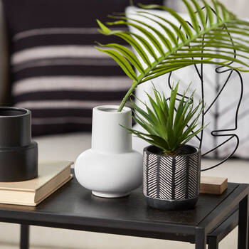 White Ceramic Angular Vase