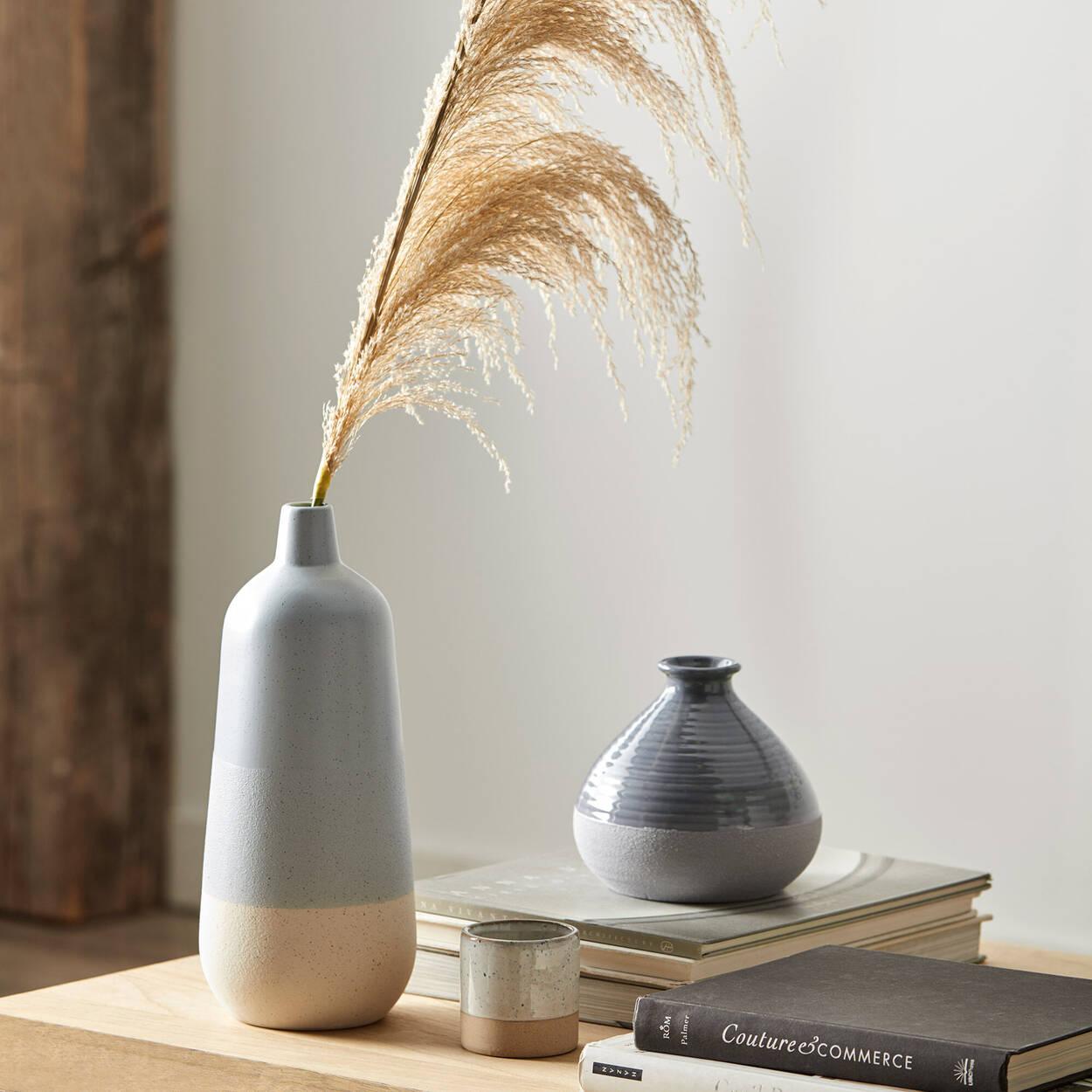 Vase deux tons en céramique mouchetée
