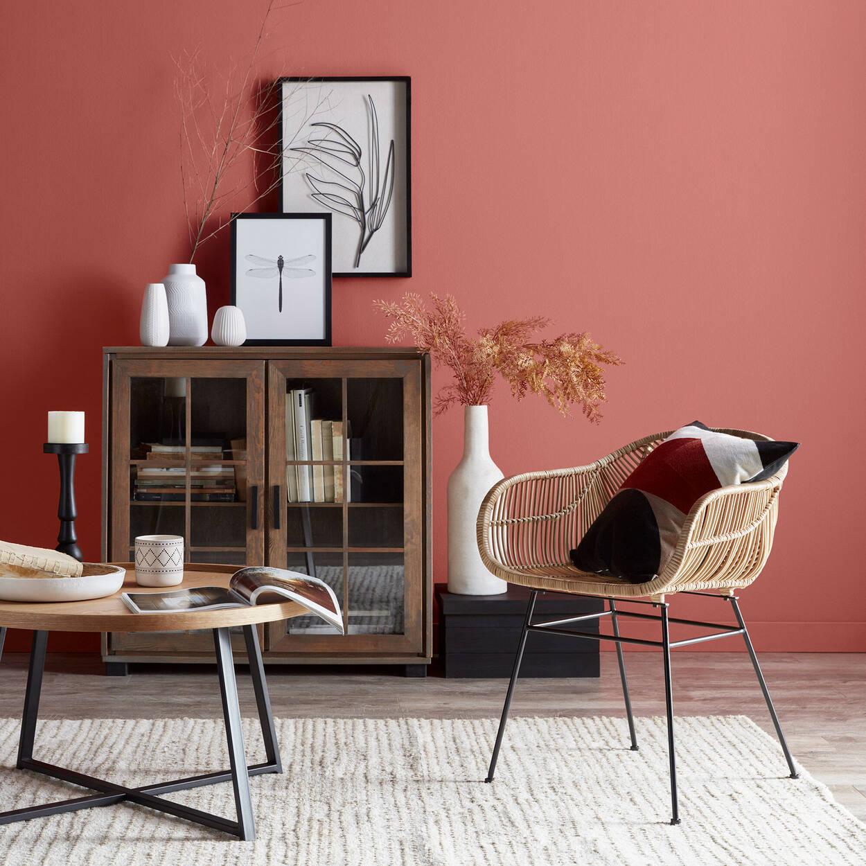 Metal and Wood Coffee Table