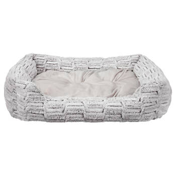 Silver Fox Faux Fur Pet Bed