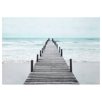 Wooden Dock Printed Canvas
