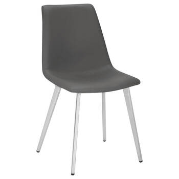 Faux Leather and Chrome Dining Chair