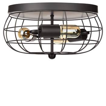 Lampe suspendue cage en métal