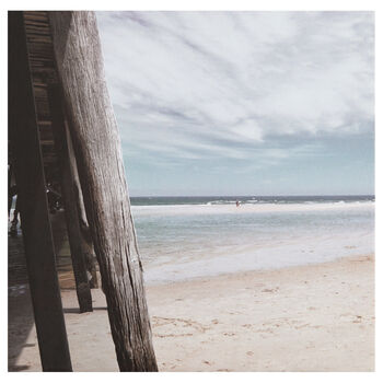 Beach View Printed Canvas