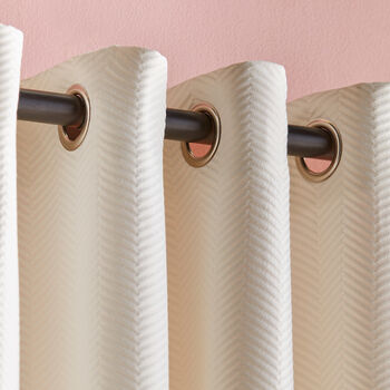 Quincy Embossed Chevron Curtain