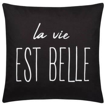 "Life Water-Repellent Decorative Pillow 18"" X 18"""