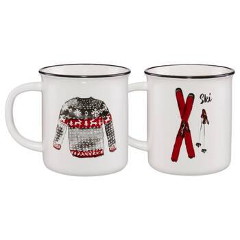 Set of 2 Winter Accessories Mugs