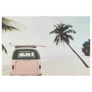 Tableau imprimé winnebago sur la plage