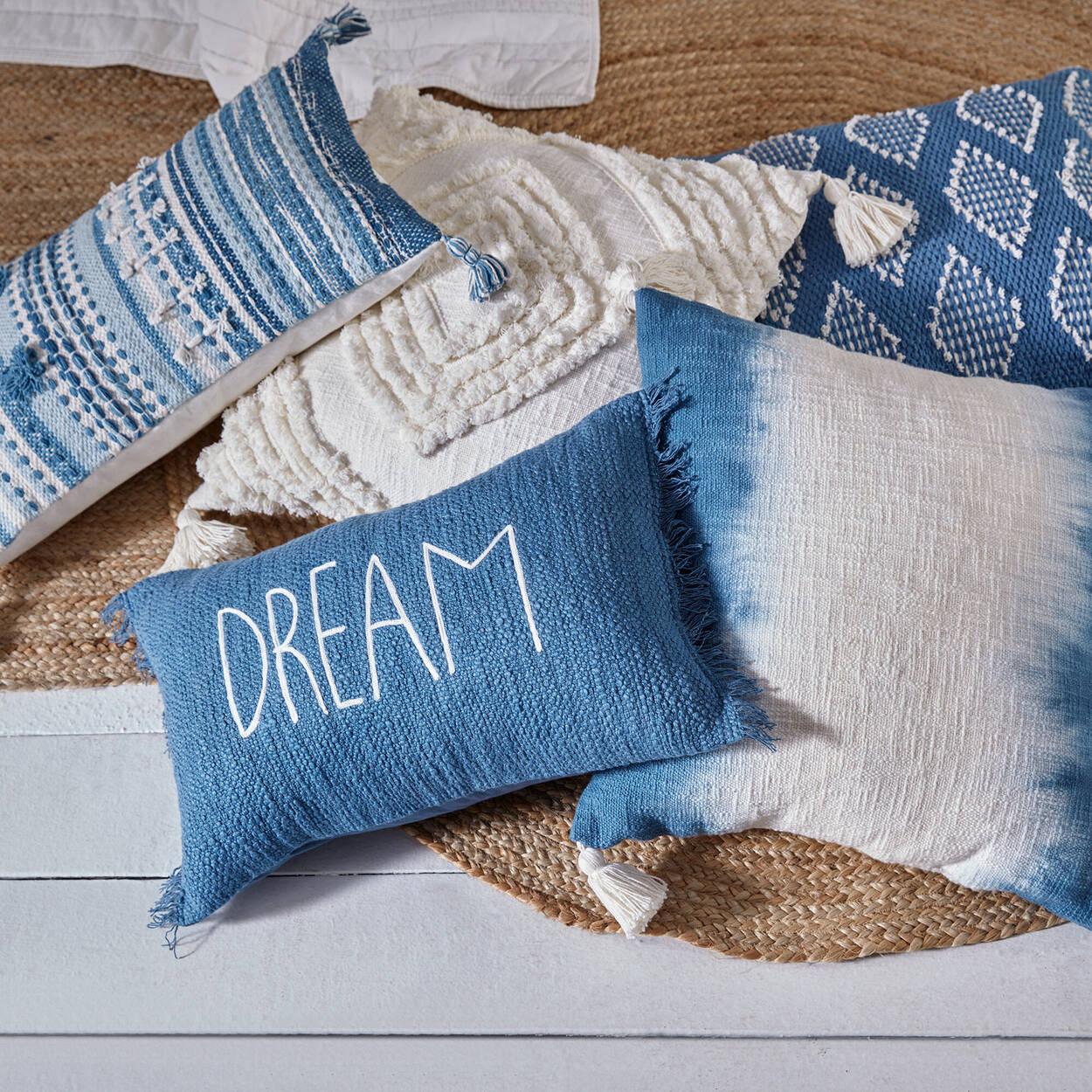 "Sylvia Diamond Pattern Decorative Pillow 19"" x 19"""
