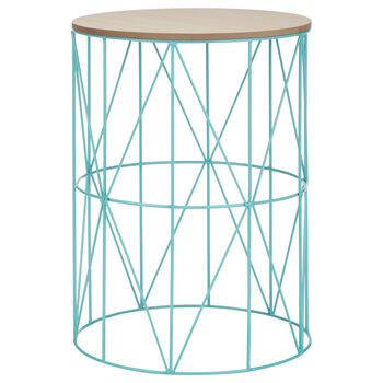 Metal Wire and Wood Stool